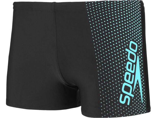 speedo Gala Logo Aquashorts Herre black/aquasplash